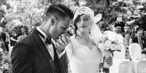 Real Wedding: Italian Riviera Wedding Roaring 20s themed Wedding