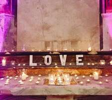 LOVE wedding details and candles
