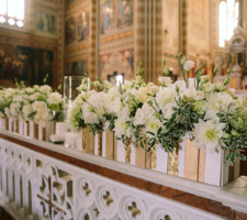 Wedding flowers for the church
