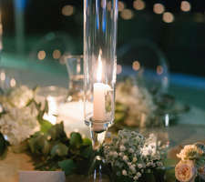 Long romantic candles for your wedding table