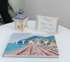 Original guestbook for a destination wedding in Italy